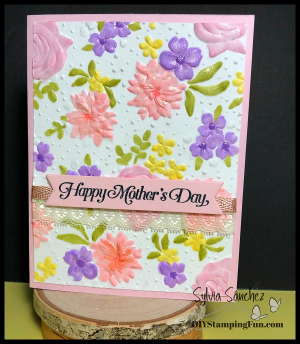 Country Floral Mother's Day Card