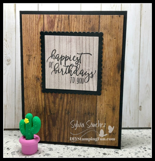 Make-it-Monday: Picture Perfect Birthday Card