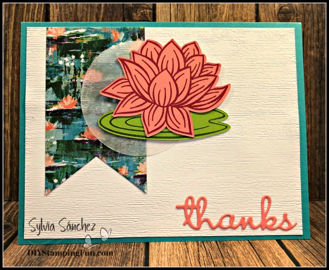 Water Lily Thank You Card