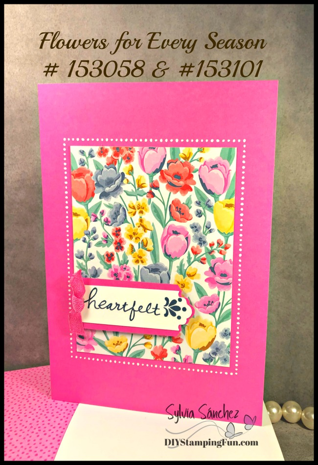 Stampin Up! Flowers for Every Season Memories & More Card pack